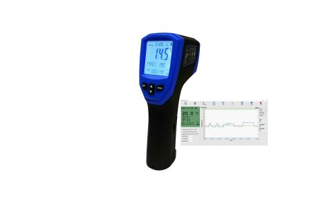 Introducing the professional digital high temperature infrared and thermocouple thermometer data logger