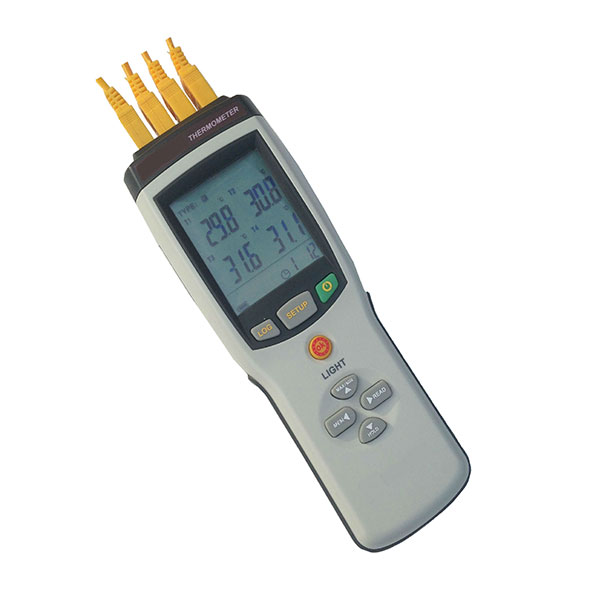 4 Channels Universal Thermocouple Thermometer Data Logger