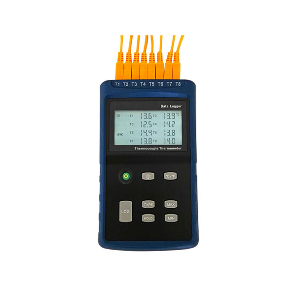 8 Channels Thermocouple Thermometer Data Logger