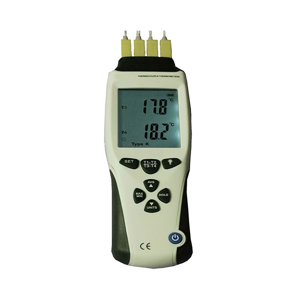 4 Channel logging Thermocouple Thermometer Type K J