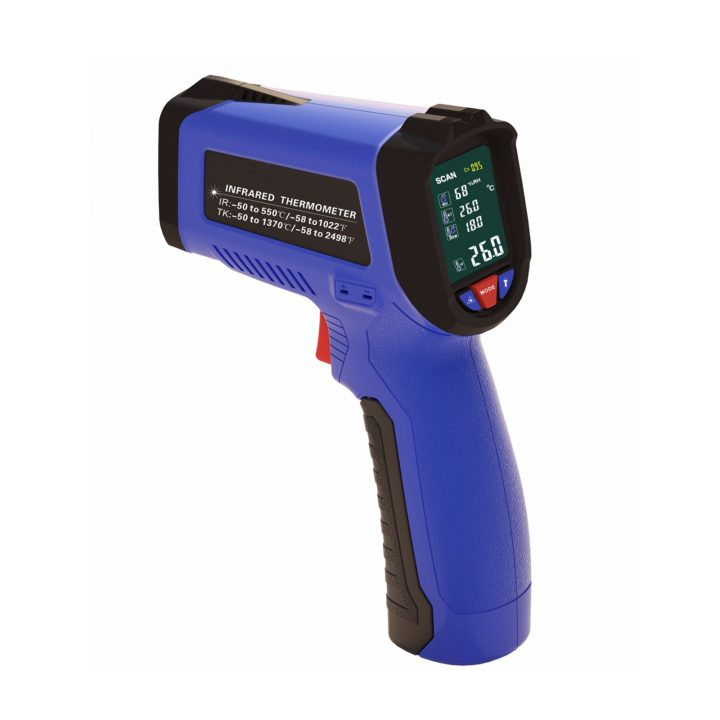 IR Thermometer with Type K and Air Temperature