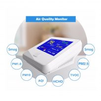 indoor air quality Formaldehyde (HCHO), Total volatile organic compounds (TVOC) PM1.0, PM2.5 & PM10